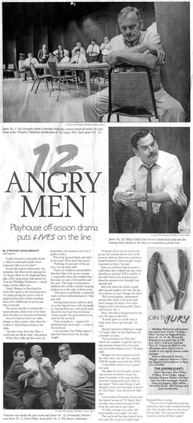 """Twelve Angry Men"" Newspaper Article
