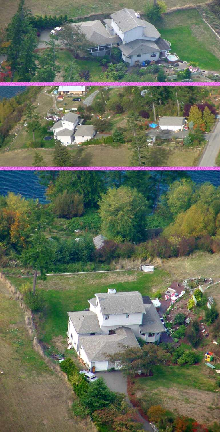 Newer Air Views of House - 10/15/01