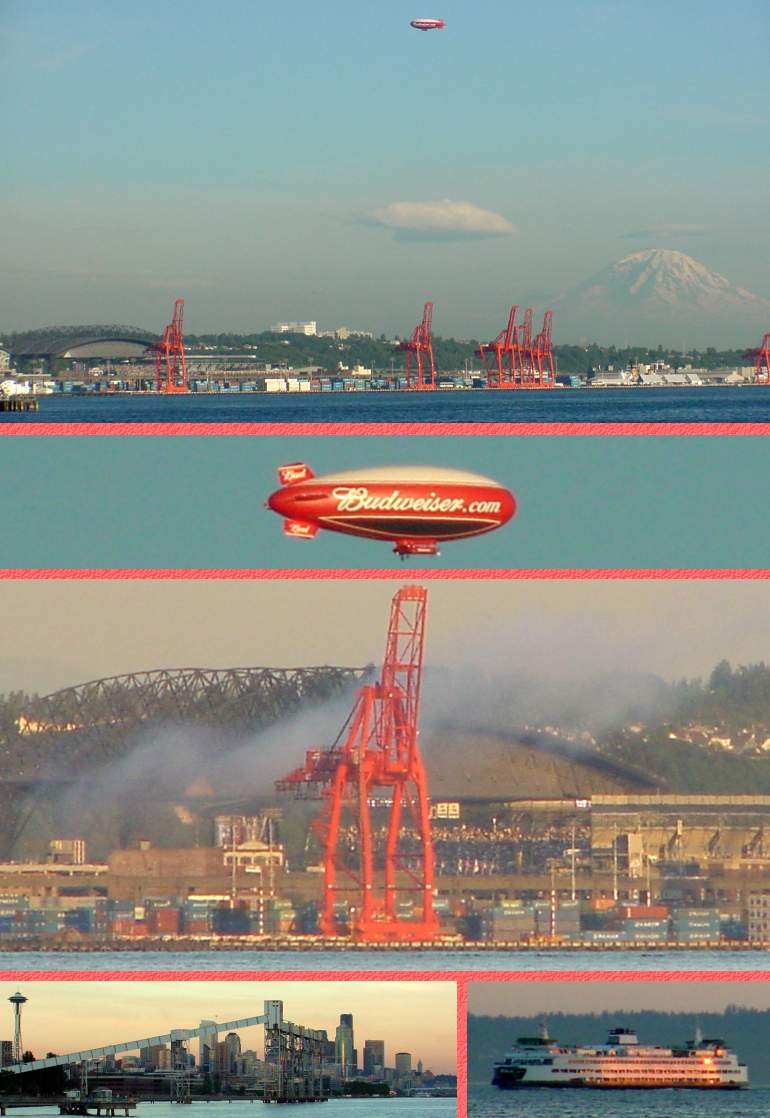 All Star Game from across Elliott Bay - July 10, 2001
