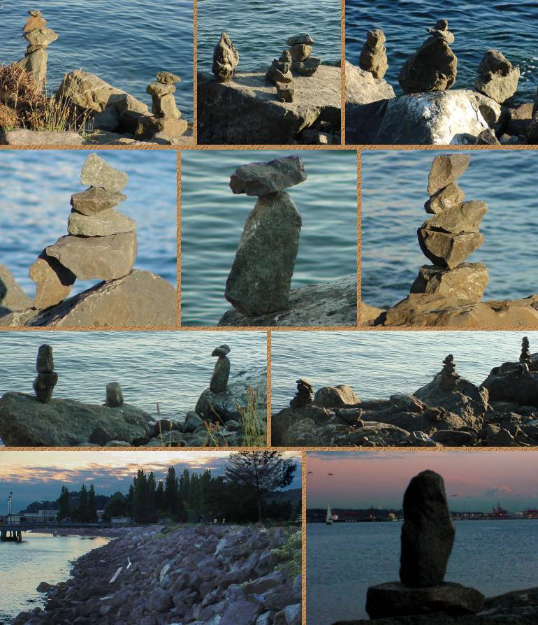 Elliott Bay Balanced Rocks - July 18, 2001