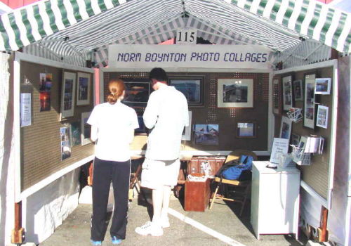 Booth at Coupeville Arts and Crafts Festival - 8/10/02