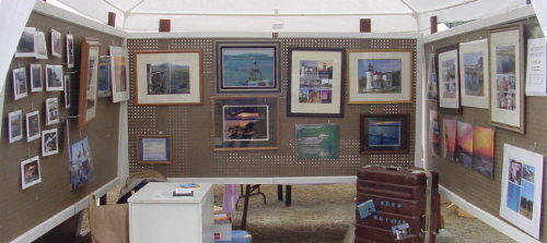 Booth front at Loganberry Festival on Greenbank Farm - 7/28/02