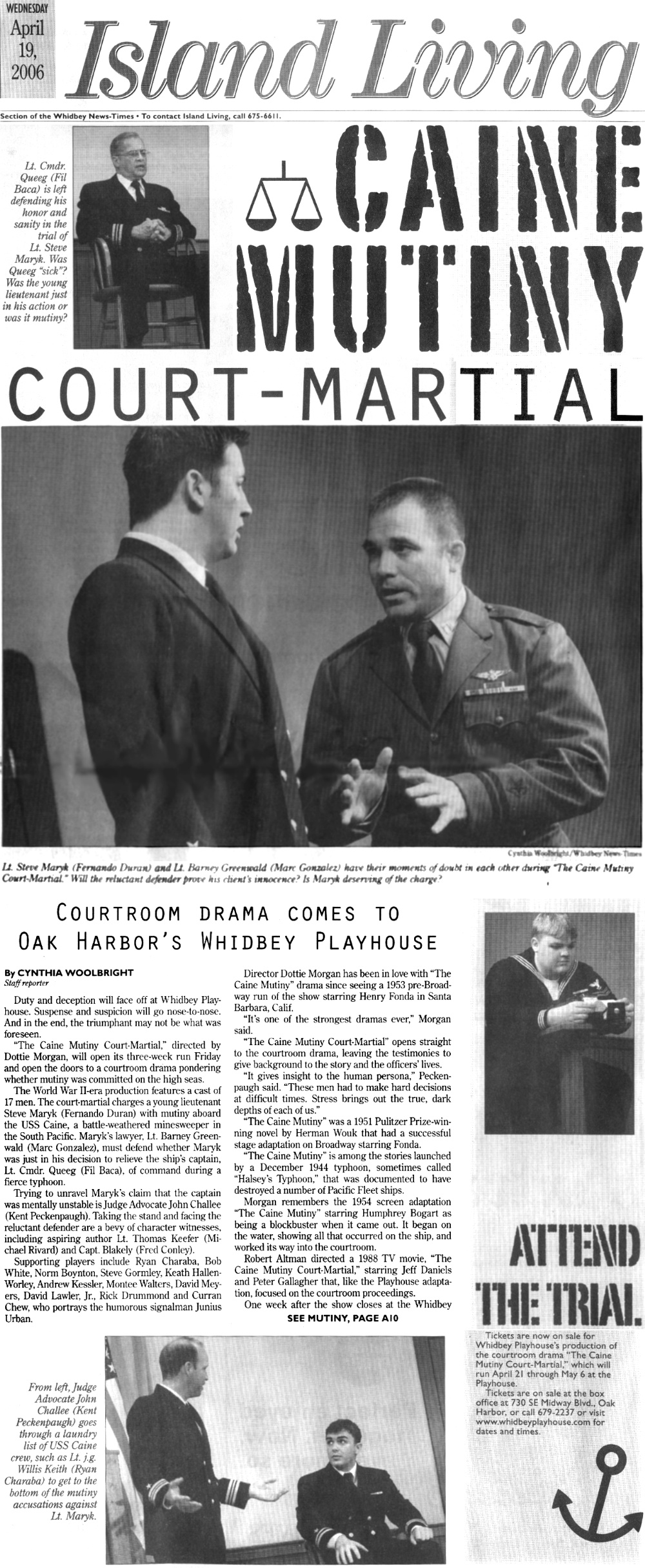 """The Caine Mutiny Court Martial"" newspaper Article"
