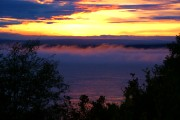 "Link to Facebook album ""Home Photos - Foggy Sunset"" - 9/7/10"