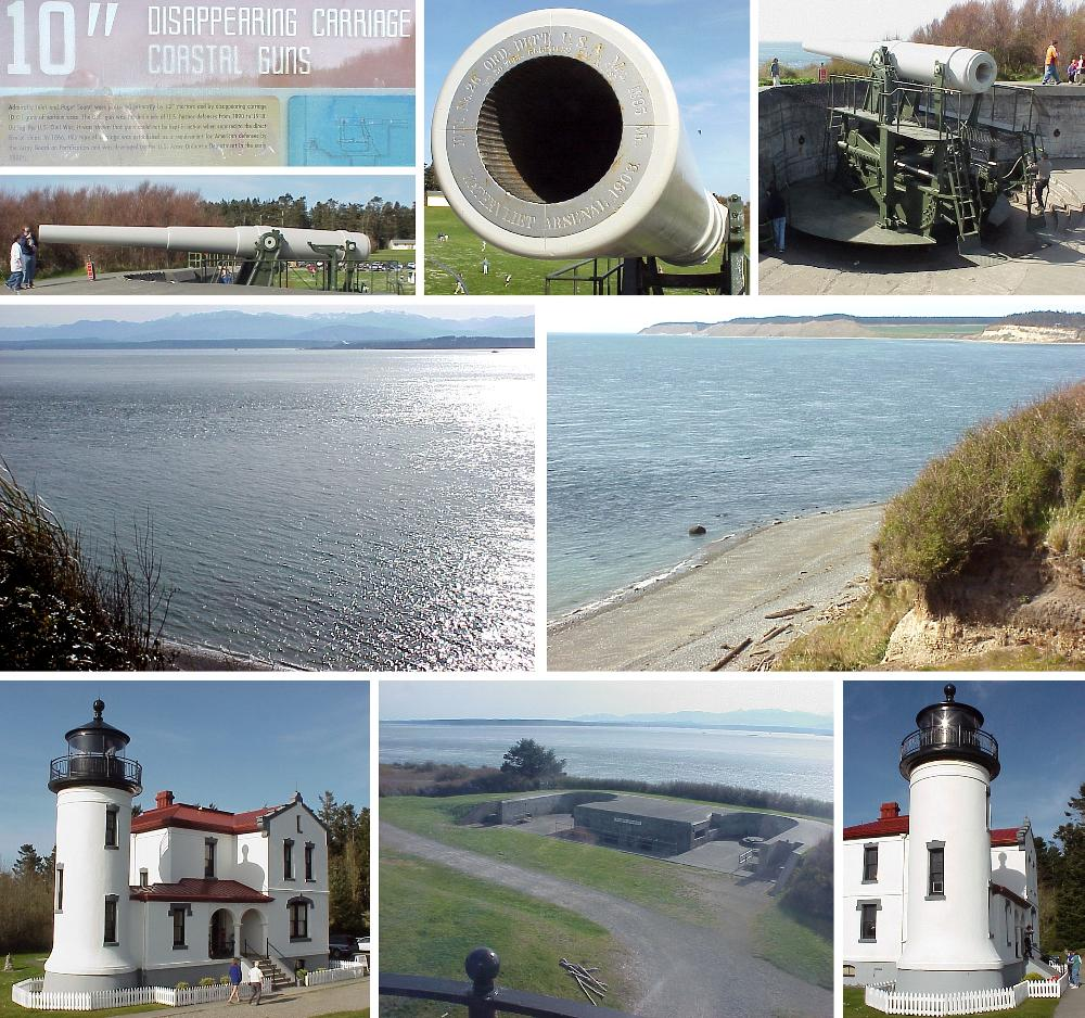 Fort Casey Guns and Lighthouse