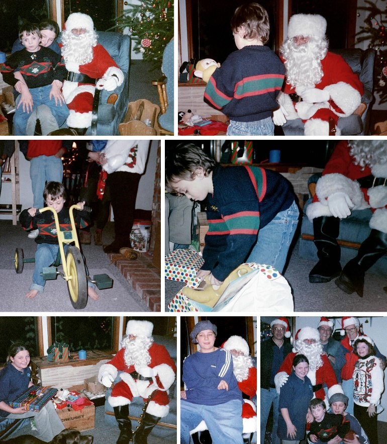 Gio's Visit from Santa - Christmas, 1999