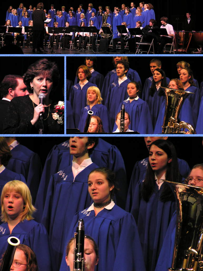 "Connie's Choir Singing ""Hallelujah Chorus"" at Winter Concert - 12/17/03"