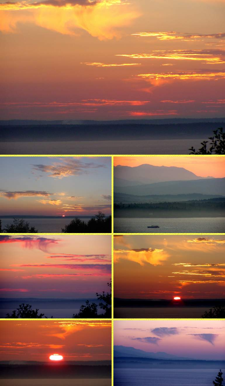 Hazy Sunset - August 12, 2001