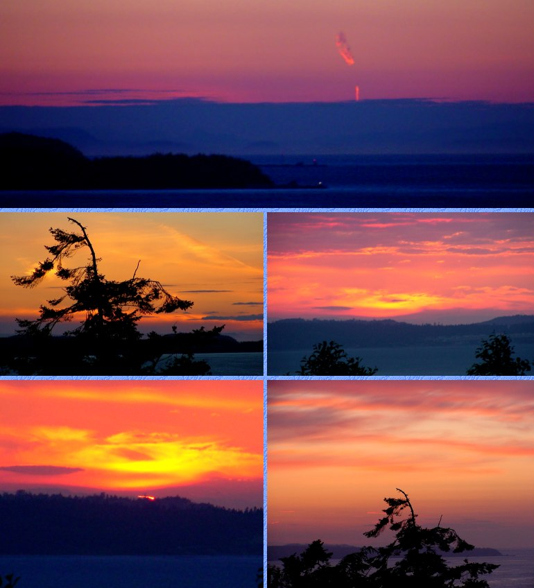 June and July Sunsets - June 3 to July 13, 2001