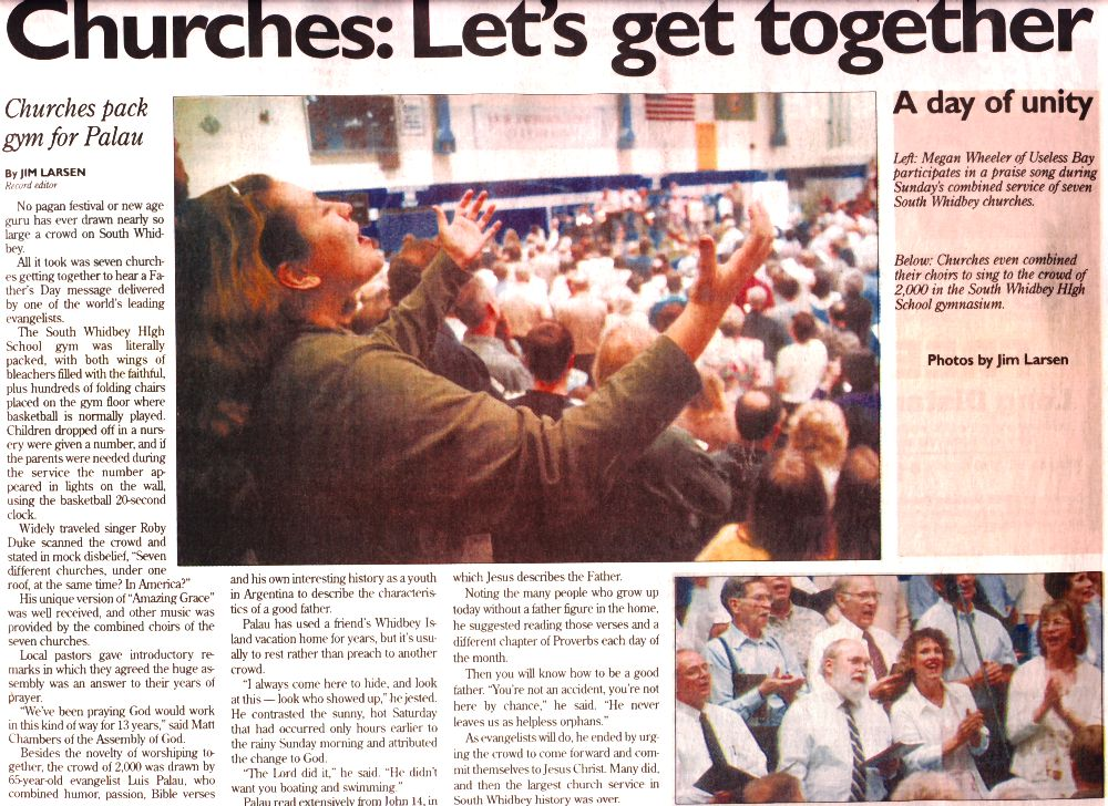 Front Page Newspaper Article - 6/21/00