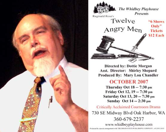 "Norm portrayed the Foreman in ""Twelve Angry Men"""