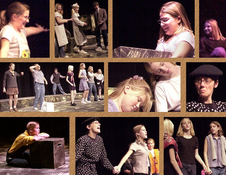 "Connie in ""Out of the Box"" Dress Rehearsal - TOP COLLAGE"