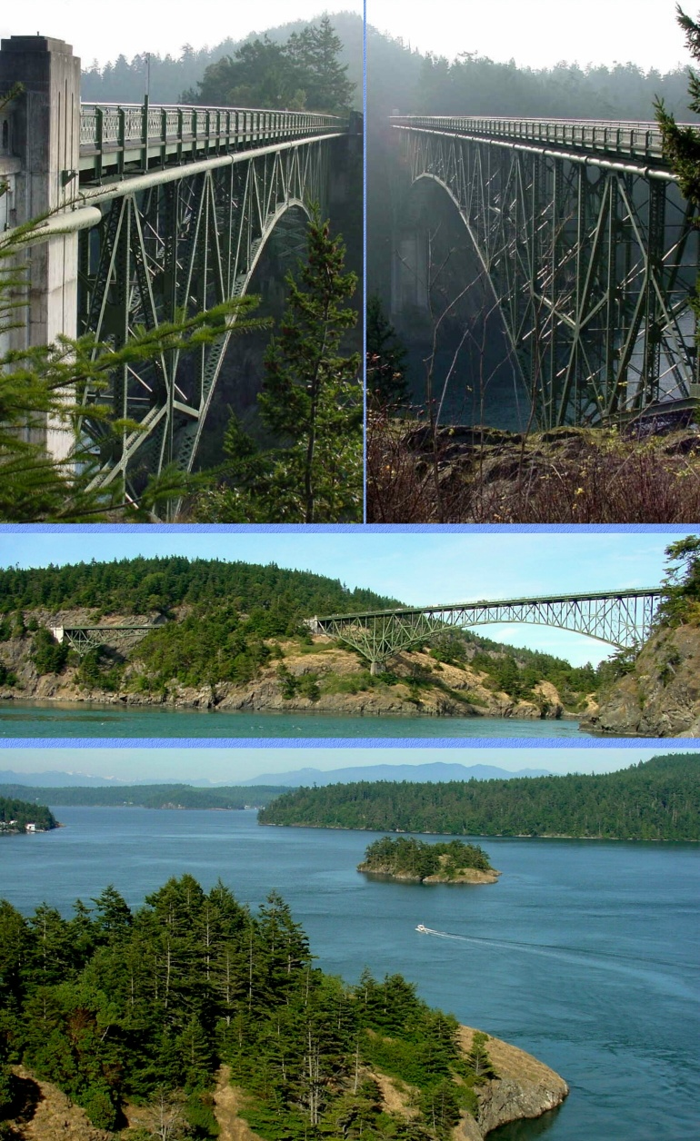 Deception Pass Bridge Photos - MIDDLE- 12/7/00