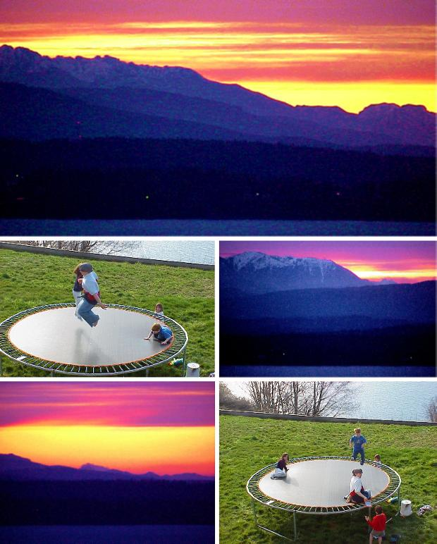 Sunsets and Trampoline - March 5, 2000