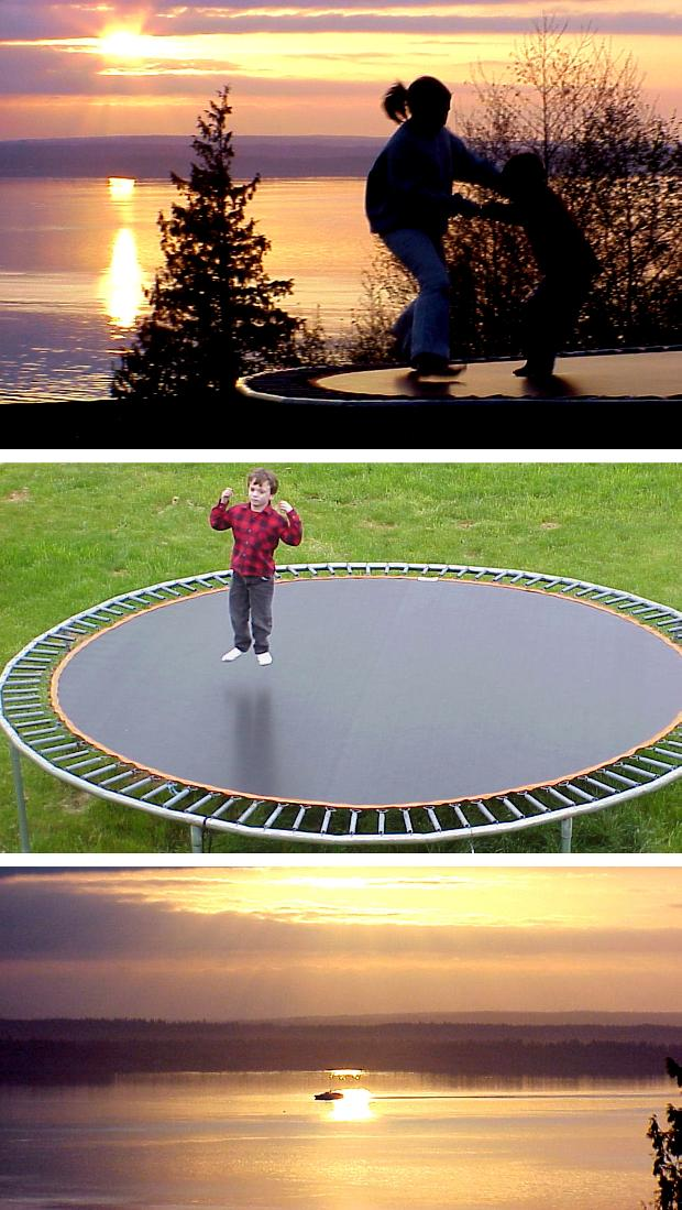 Sunsets and Trampoline - March and April, 2000