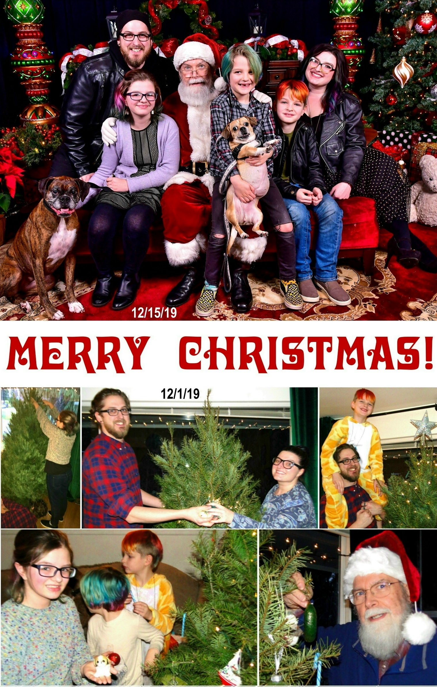 2019 Christmas Card - Front Enlarged