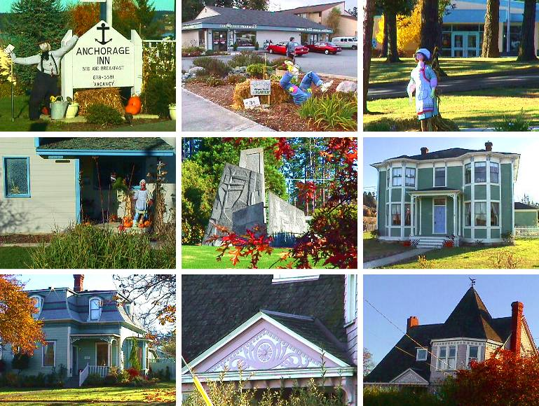 Coupeville Sculptures and Houses
