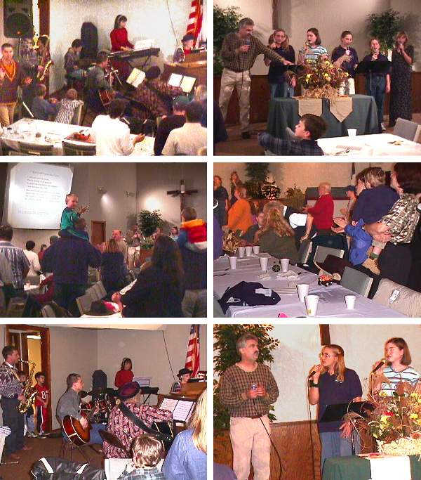 Evangelical Free Church Thanksgiving Dinner Singing