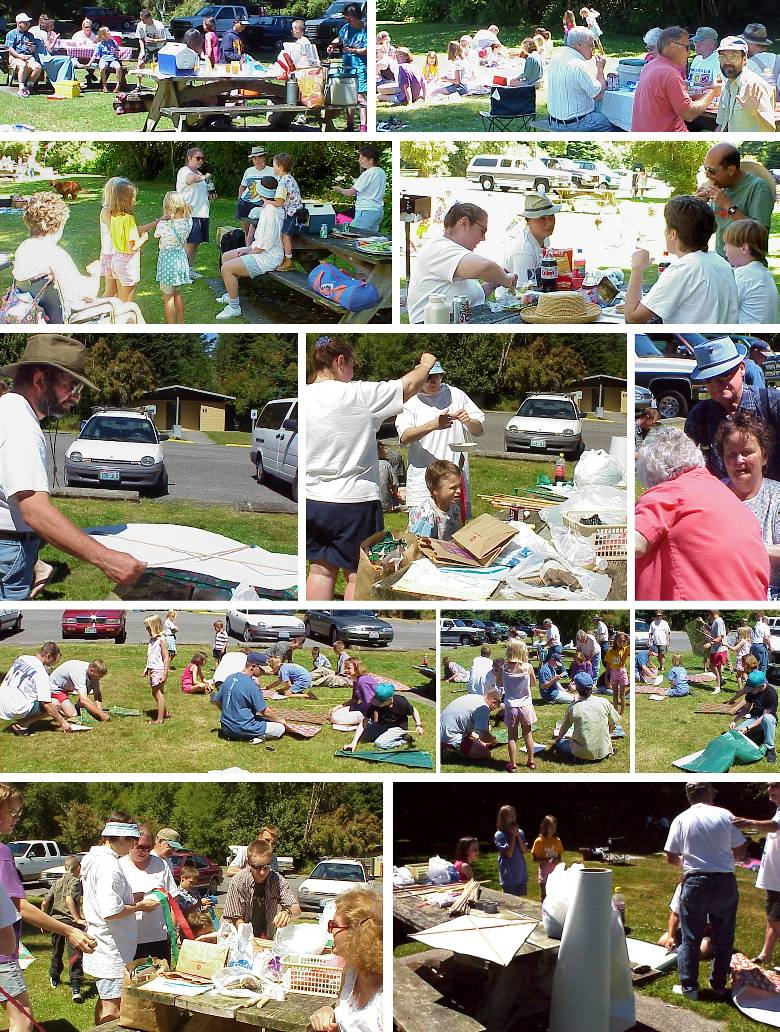 Picnic Lunch and Kite-Making - 7/30/00