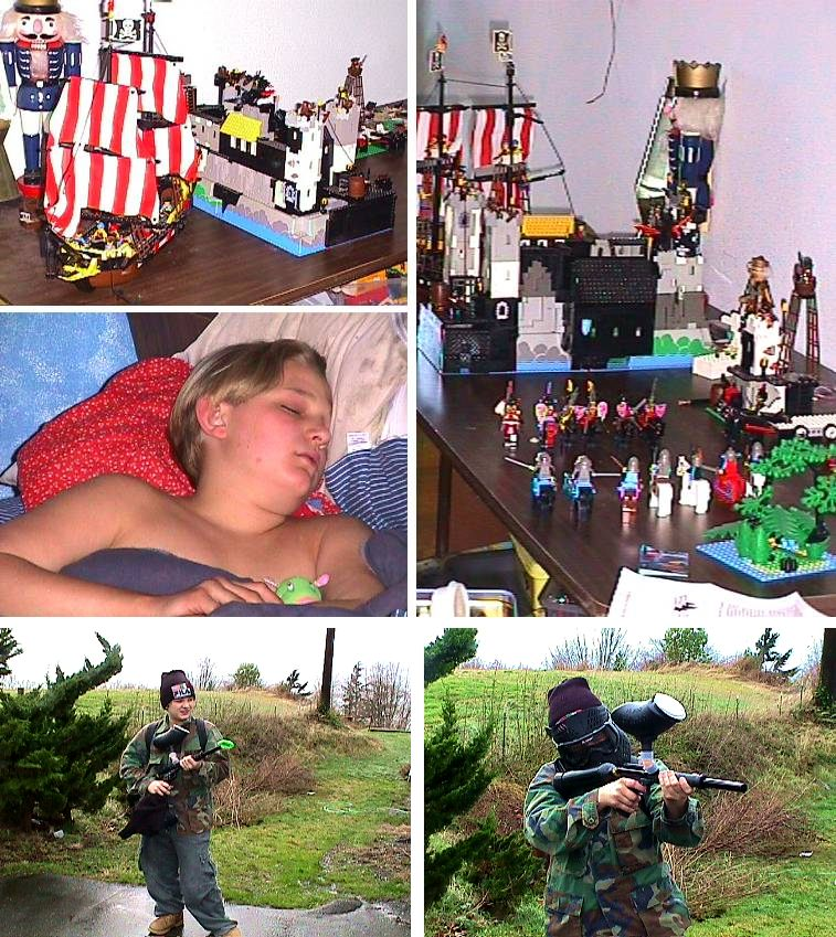 Phil's Legos and as PaintBall Warrier